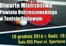 Otwarte Mistrzostwa Powiatu Ostrzeszowskiego – zaproszenie