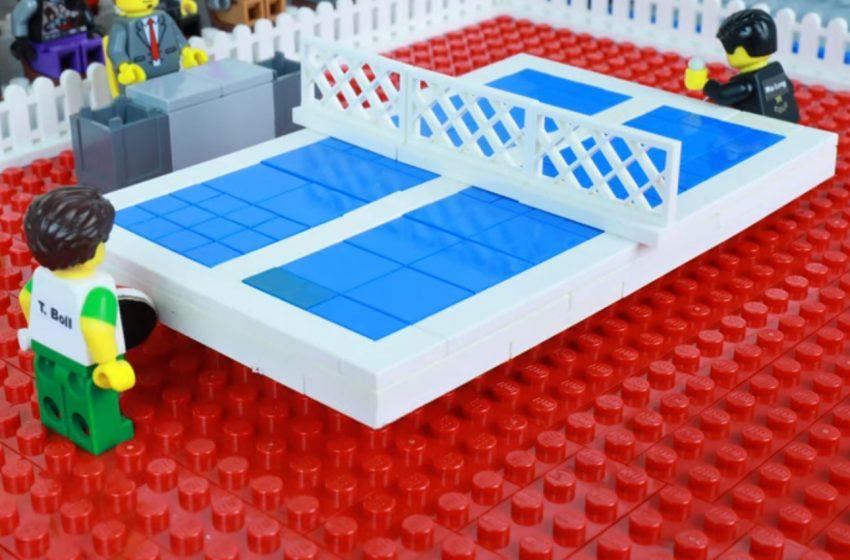 Tenis stołowy w wersji LEGO! Niesamowite nagrania!